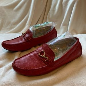 Cole Haan Red Leather Loafers 7.5